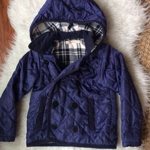 Other - Purple Quilt Pea Coat Hoodie Size 4T